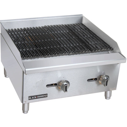 Commercial Kitchen Stainless Steel Char-Broiler 24