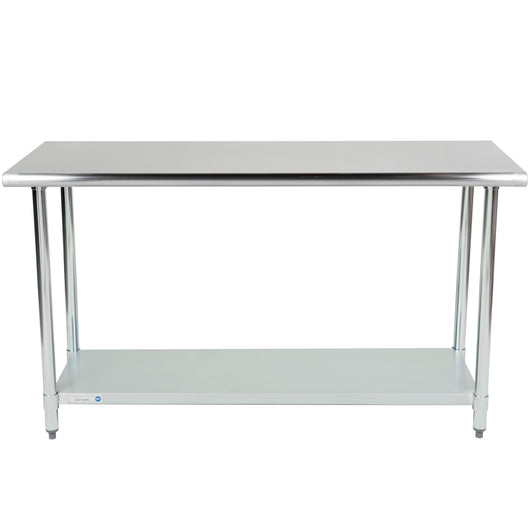 Stainless Steel Work Table w/ Galvanized Undershelf 24