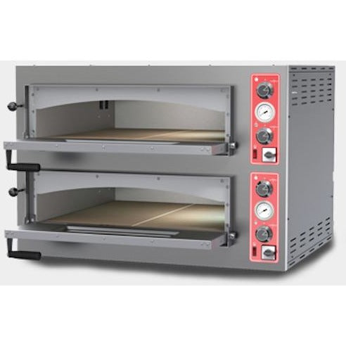 Commercial Kitchen Countertop Double Deck Electric Heavy Duty Pizza Oven - Commercial Kitchen USA