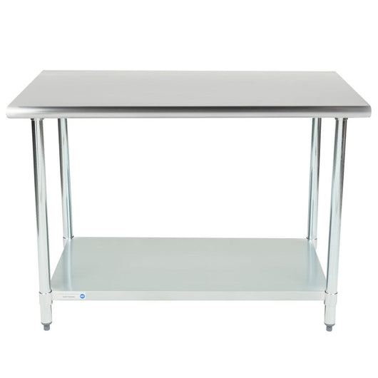 Stainless Steel Work Table w/ Galvanized Undershelf 30 x 48 x 36 for Pickup - Commercial Kitchen USA