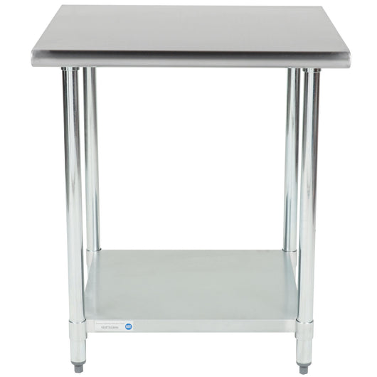 Stainless Steel Work Table w/ Galvanized Undershelf 30 x 30 x 36 for Pickup - Commercial Kitchen USA