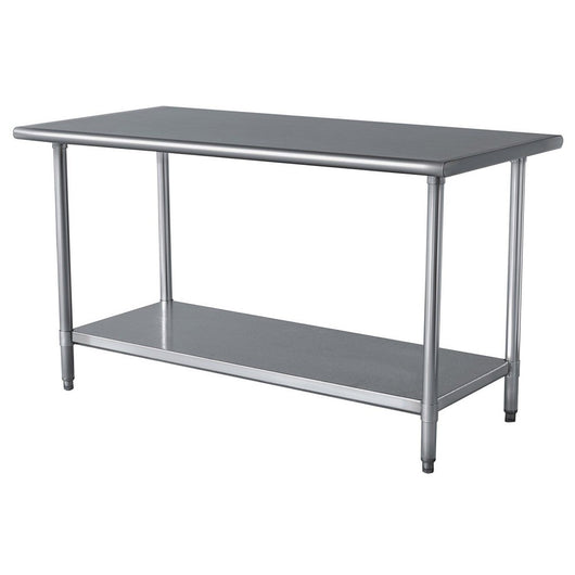 Stainless Steel Work Table w/ Galvanized Undershelf 18
