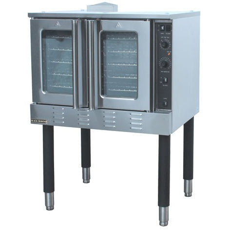 Commercial Kitchen Full Size Natural Gas Convection Oven Single Deck 54,000 BTU - Commercial Kitchen USA