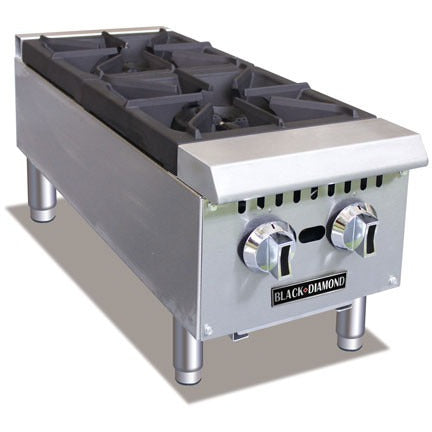 Commercial Kitchen Countertop Gas Hot Plate 2 Burner 12