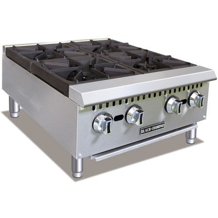 Commercial Kitchen Countertop Gas Hot Plate 4 Burner 24