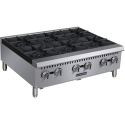Commercial Kitchen Countertop Gas Hot Plate 6 Burner 36