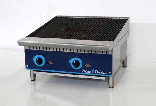 Blue Flame Commercial Kitchen Countertop Gas Char-Broiler 24