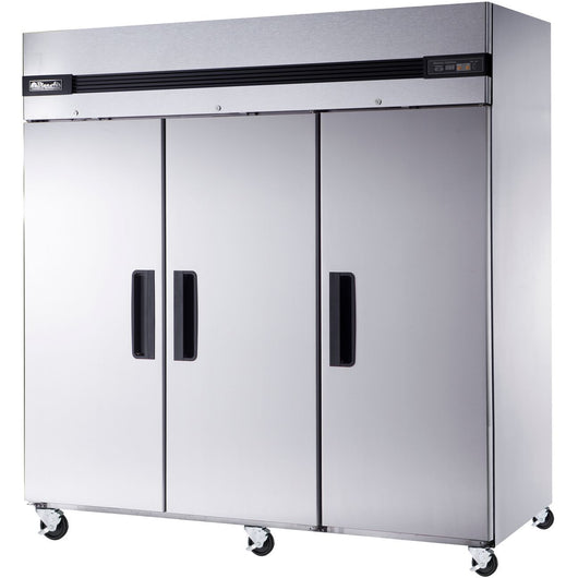 Blue Air Commercial Kitchen 3 Door Reach-In Refrigerator 81