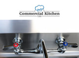 "KCS 8"" Center Splash-Mount Faucet with 10"" Spout NSF Certified - Commercial Kitchen USA"