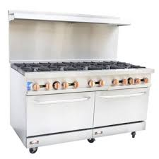 Copper Beech Range CBR-10 10 Burner Gas Commercial Range Oven 1 Year Warranty Casters - Commercial Kitchen USA