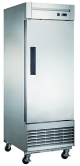 Dukers D28F 17.7 cu. ft. Single Door Commercial Freezer in Stainless Steel - Commercial Kitchen USA