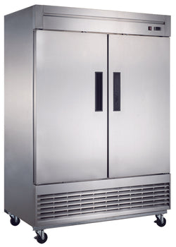 Dukers D55F 40.7 cu. ft. 2-Door Commercial Freezer in Stainless Steel - Commercial Kitchen USA