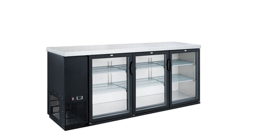 Dukers DBB72-H3 19.1 cu. ft. 3 Door Bar and Beverage Cooler - Commercial Kitchen USA