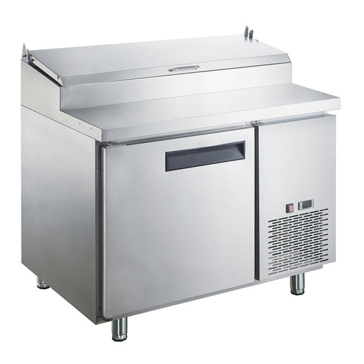 Dukers DPP44 9.8 cu. ft. Commercial Single Door Pizza Prep Table Refrigerator - Commercial Kitchen USA