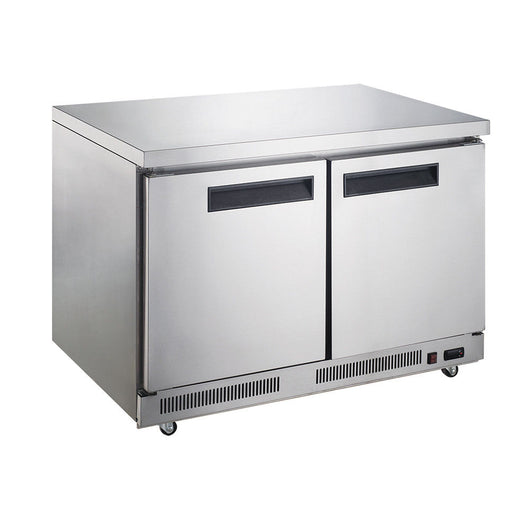 Dukers DUC60R 15.5 cu. ft. 2-Door Undercounter Commercial Refrigerator - Commercial Kitchen USA