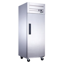 Dukers D28AR Commercial Single Door Top Mount Refrigerator in Stainless Steel - Commercial Kitchen USA