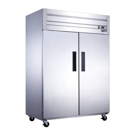 Dukers D55AR Commercial 2-Door Top Mount Refrigerator in Stainless Steel - Commercial Kitchen USA