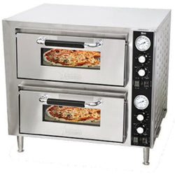 Omcan 35980 COUNTERTOP DOUBLE QUARTZ PIZZA OVEN-PE-CN-3200-D Free Freight - Commercial Kitchen USA