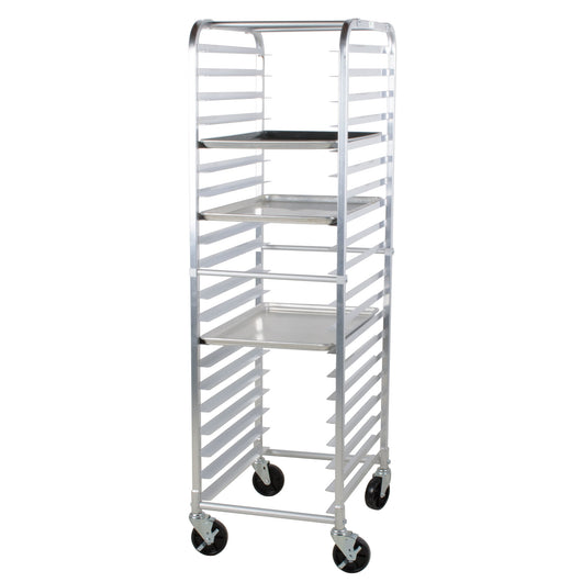 NSF Certified Mobile Pan Rack, full height, open sides 18
