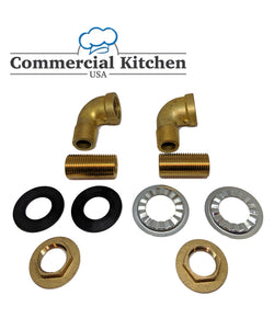 Commercial Faucet Wall Mount Mounting Kit Low Lead - Commercial Kitchen USA