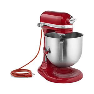 Skyfood- Kitchenaid 8-QT. BOWL-Lift Commercial Stand Mixer - Empire Red- 1.3 HP (NSF Certified) UL- KSM8990ER for Pickup - Commercial Kitchen USA