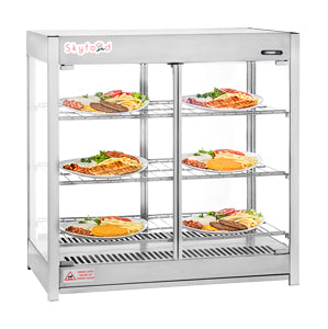 Skyfood- Heated Merchandiser Cabinet - Pass Thru - Triple Shelf - Steam Line-HMC-PT for Pickup - Commercial Kitchen USA