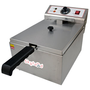 Skyfood- Electric Fryer - COUNTERTOP SINGLE WELL - FE-10-N for Pickup - Commercial Kitchen USA