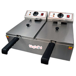 Skyfood - Electric Fryer - COUNTERTOP DOUBLE WELL -FED-20-N for Pickup - Commercial Kitchen USA