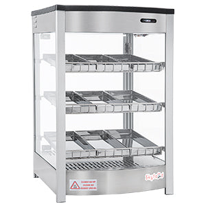 Skyfood- Food Warmer Display - TRIPLE SHELF 9 PANS - STEAM LINE - FWD3S9P for Pickup - Commercial Kitchen USA