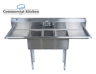 Stainless Steel 2 Compartment Sink 72