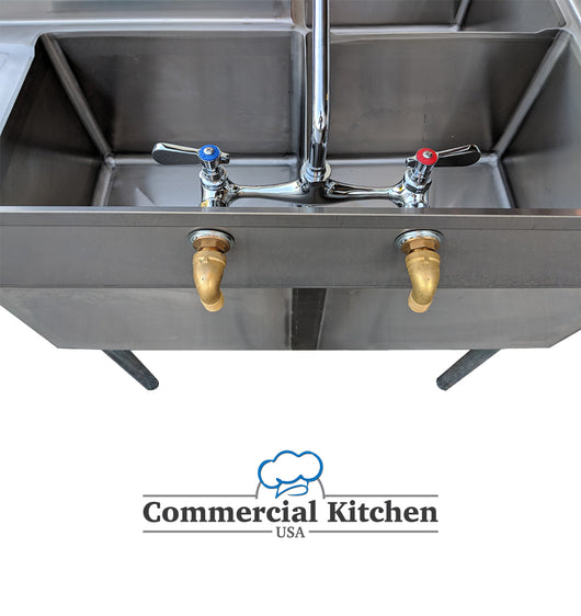 Commercial 3 Compartment Stainless Steel Corner Sink 57 X 57 Nsf Cer Commercial Kitchen Usa