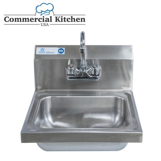 Stainless Steel Wall-Mount Hand Sink 12