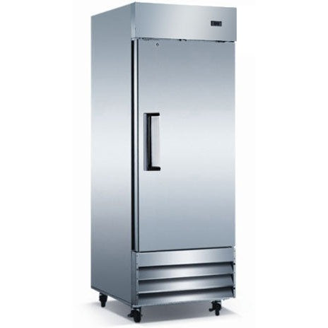 Commercial Stainless Steel Reach in Refrigerator – 1 Door, 23 Cubic Ft. - Commercial Kitchen USA