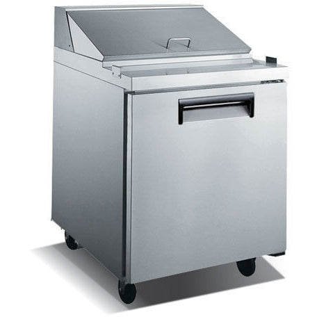 Commercial Stainless Steel Refrigerated Salad/Sandwich Prep Table – 1 Door, 27″ - Commercial Kitchen USA