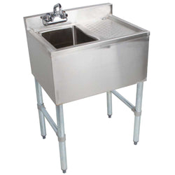Royal Alliance 1 Compartment Underbar Sink with Right Drainboard 24