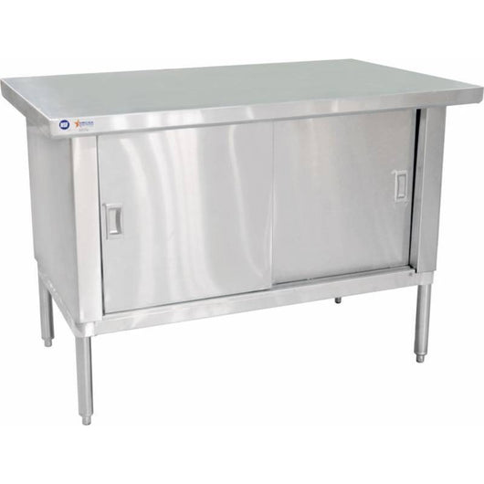 Commercial Stainless Steel Work Prep Table Cabinet (w/ 3