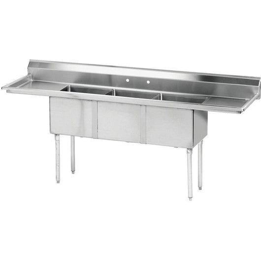 Stainless Steel 3 Compartment Sink 75