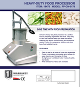 Omcan 19475 VEGETABLE CUTTER WITH 7-INCH OPENING AND 6 DISCS MODEL: FP-CN-0178 - Commercial Kitchen USA