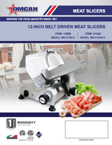"Omcan MS-IT-300-U Meat/Vegetable Slicer W/ 12"" Blade Free Shipping - Commercial Kitchen USA"