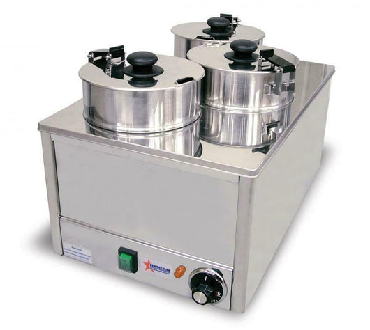 Omcan 11390 TRIPLE WELL WARMER WITH 3.8L PER CONTAINER CAPACITY FW-TW-0012 - Commercial Kitchen USA