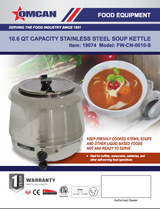 Omcan 19074 10.6 QT STAINLESS STEEL SINGLE SOUP KETTLE- FW-CN-0010-S Free Shipping - Commercial Kitchen USA