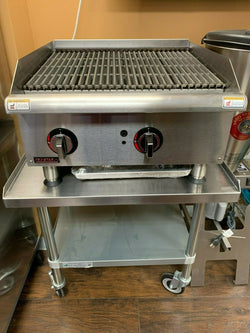 NEW TRI-STAR SGCB24i Radiant Charbroiler 80,000 BTU w/ Equipment Stand- Free Freight - Commercial Kitchen USA