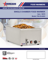 Omcan 19076 SINGLE CHAMBER FOOD WARMER WITH 2 HALF-SIZE PANS MODEL-  FW-CN-0023 Free Shipping - Commercial Kitchen USA