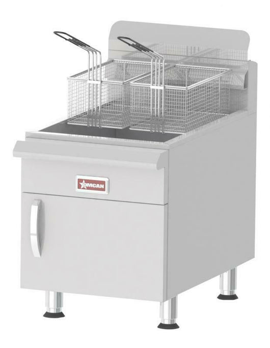 Omcan COMMERCIAL COUNTERTOP LP GAS FRYER w/ 53,000 BTU AND 30 LB. OIL CAP 43089 - Commercial Kitchen USA