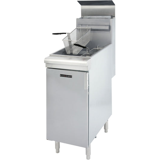 Commercial Kitchen Stainless Steel 45-50 lb Deep Fryer 120,000 BTU NG - Commercial Kitchen USA