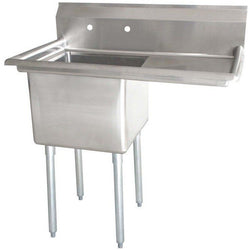 Stainless Steel 1 Compartment Sink 38 1/2
