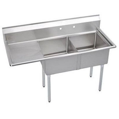 Stainless Steel 2 Compartment Sink 75