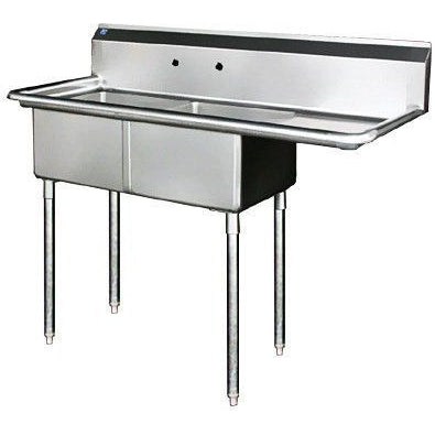 Stainless Steel 2 Compartment Sink 56.5