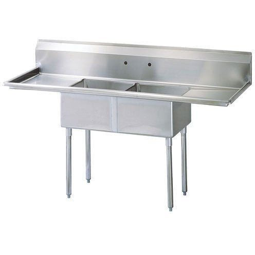 Stainless Steel 2 Compartment Sink 96