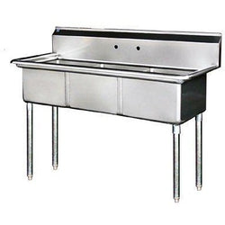 Stainless Steel 3 Compartment Sink 59